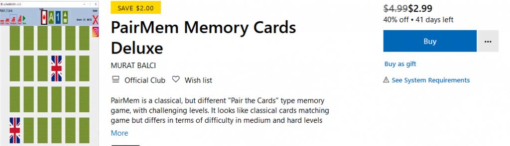 PairMem Deluxe - Free Memory Game - huskespil med bogstaver